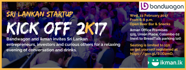 Kick Off 2K17 for Sri Lanka's Startups