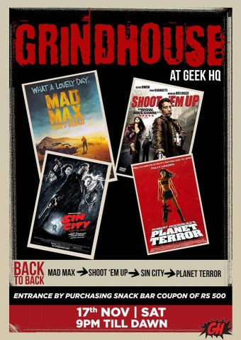 Grindhouse at GeekHQ