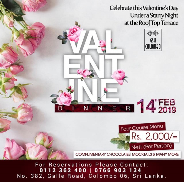 Valentine's Dinner @ GSH Colombo